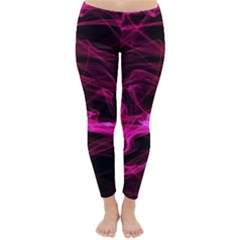 Abstract Pink Smoke On A Black Background Classic Winter Leggings