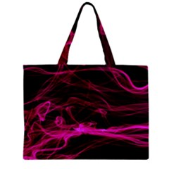 Abstract Pink Smoke On A Black Background Zipper Mini Tote Bag