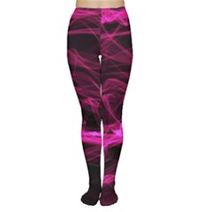 Abstract Pink Smoke On A Black Background Women s Tights