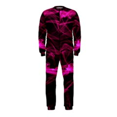 Abstract Pink Smoke On A Black Background Onepiece Jumpsuit (kids)