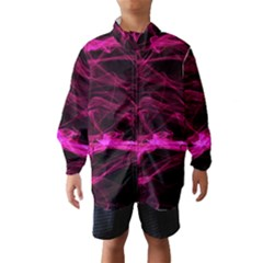 Abstract Pink Smoke On A Black Background Wind Breaker (kids)