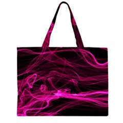 Abstract Pink Smoke On A Black Background Large Tote Bag