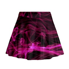 Abstract Pink Smoke On A Black Background Mini Flare Skirt