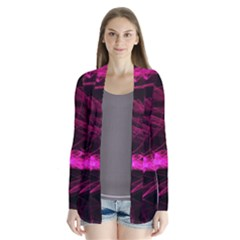 Abstract Pink Smoke On A Black Background Cardigans