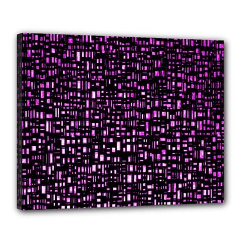 Purple Denim Background Pattern Canvas 20  x 16