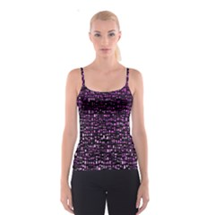 Purple Denim Background Pattern Spaghetti Strap Top