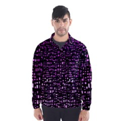 Purple Denim Background Pattern Wind Breaker (men)