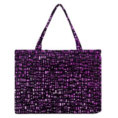 Purple Denim Background Pattern Medium Zipper Tote Bag