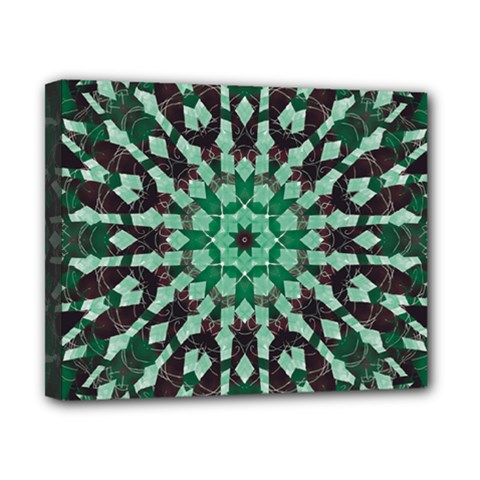 Abstract Green Patterned Wallpaper Background Canvas 10  x 8