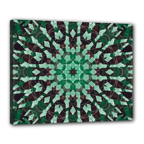 Abstract Green Patterned Wallpaper Background Canvas 20  X 16