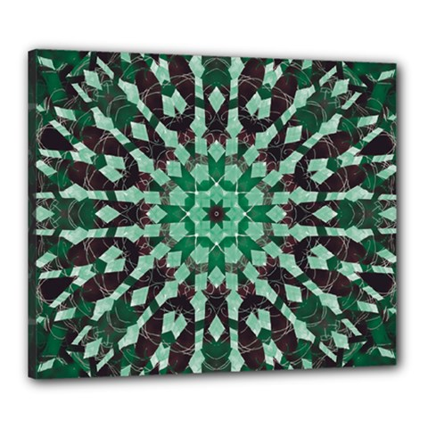 Abstract Green Patterned Wallpaper Background Canvas 24  x 20