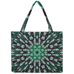 Abstract Green Patterned Wallpaper Background Mini Tote Bag