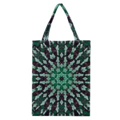 Abstract Green Patterned Wallpaper Background Classic Tote Bag