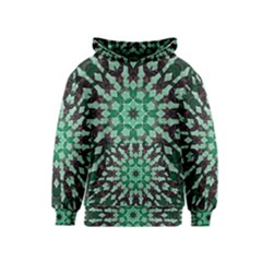 Abstract Green Patterned Wallpaper Background Kids  Pullover Hoodie