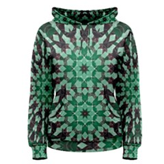Abstract Green Patterned Wallpaper Background Women s Pullover Hoodie