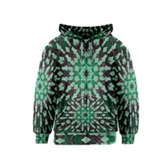 Abstract Green Patterned Wallpaper Background Kids  Zipper Hoodie