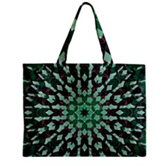 Abstract Green Patterned Wallpaper Background Zipper Mini Tote Bag