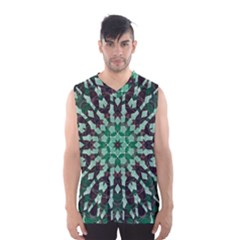 Abstract Green Patterned Wallpaper Background Men s Basketball Tank Top