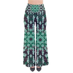 Abstract Green Patterned Wallpaper Background Pants