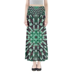 Abstract Green Patterned Wallpaper Background Maxi Skirts
