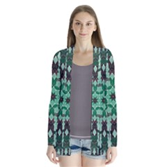 Abstract Green Patterned Wallpaper Background Cardigans
