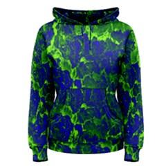 Abstract Green And Blue Background Women s Pullover Hoodie