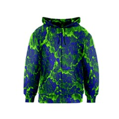 Abstract Green And Blue Background Kids  Zipper Hoodie