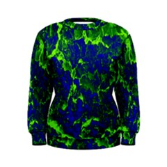 Abstract Green And Blue Background Women s Sweatshirt
