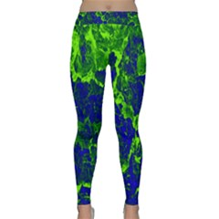 Abstract Green And Blue Background Classic Yoga Leggings