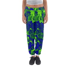 Abstract Green And Blue Background Women s Jogger Sweatpants