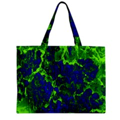 Abstract Green And Blue Background Zipper Mini Tote Bag