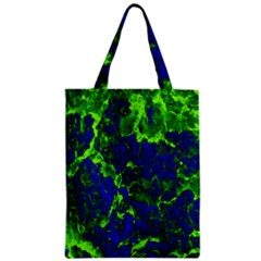 Abstract Green And Blue Background Zipper Classic Tote Bag