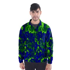 Abstract Green And Blue Background Wind Breaker (Men)