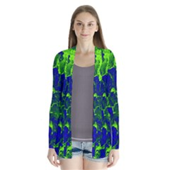 Abstract Green And Blue Background Cardigans