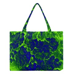 Abstract Green And Blue Background Medium Tote Bag