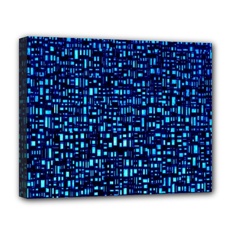 Blue Box Background Pattern Deluxe Canvas 20  x 16