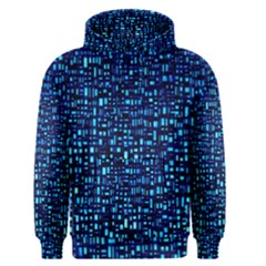 Blue Box Background Pattern Men s Pullover Hoodie