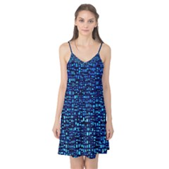 Blue Box Background Pattern Camis Nightgown