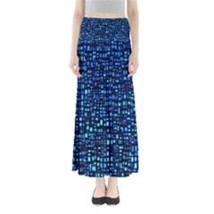 Blue Box Background Pattern Maxi Skirts