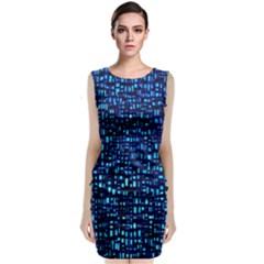 Blue Box Background Pattern Classic Sleeveless Midi Dress