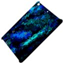 Underwater Abstract Seamless Pattern Of Blues And Elongated Shapes Apple iPad Mini Hardshell Case View4