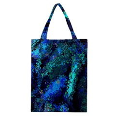 Underwater Abstract Seamless Pattern Of Blues And Elongated Shapes Classic Tote Bag