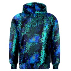 Underwater Abstract Seamless Pattern Of Blues And Elongated Shapes Men s Pullover Hoodie