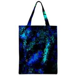 Underwater Abstract Seamless Pattern Of Blues And Elongated Shapes Zipper Classic Tote Bag