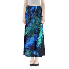 Underwater Abstract Seamless Pattern Of Blues And Elongated Shapes Maxi Skirts