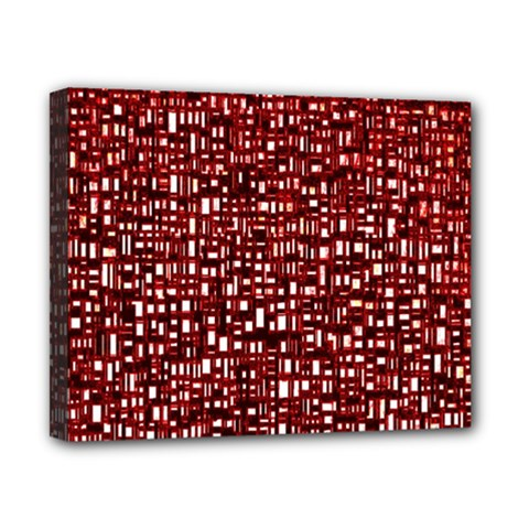 Red Box Background Pattern Canvas 10  x 8