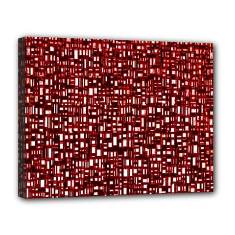 Red Box Background Pattern Canvas 14  X 11