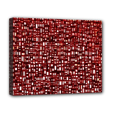 Red Box Background Pattern Deluxe Canvas 20  x 16