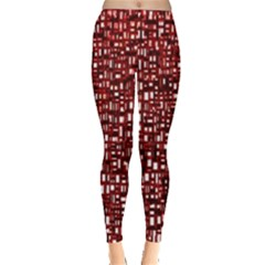 Red Box Background Pattern Leggings