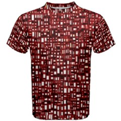 Red Box Background Pattern Men s Cotton Tee